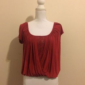Free People braided/lace top size small